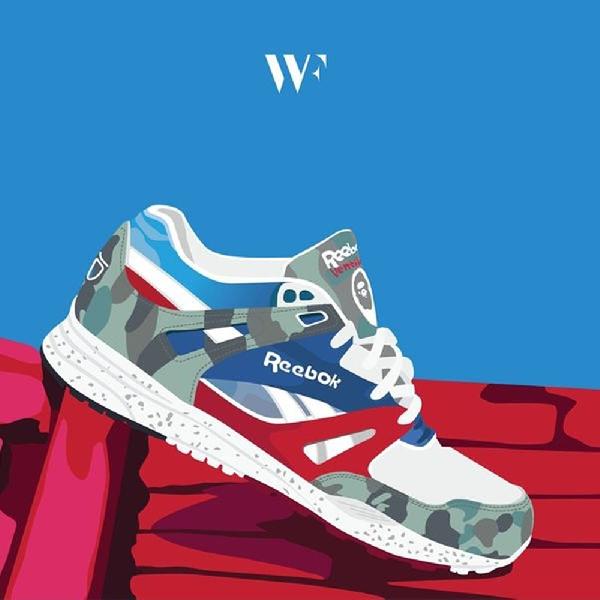 Stanley Wong Ciptakan Lukisan Ilustrasi untuk Penggila Sneakers