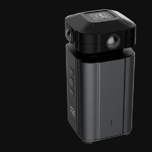 Detu F4 Plus Kamera 360 VR Beresolusi 8K