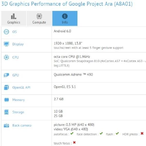 Ini Bocoran Terbaru Smartphone Google Project Ara Yang Diungkap GFXBench