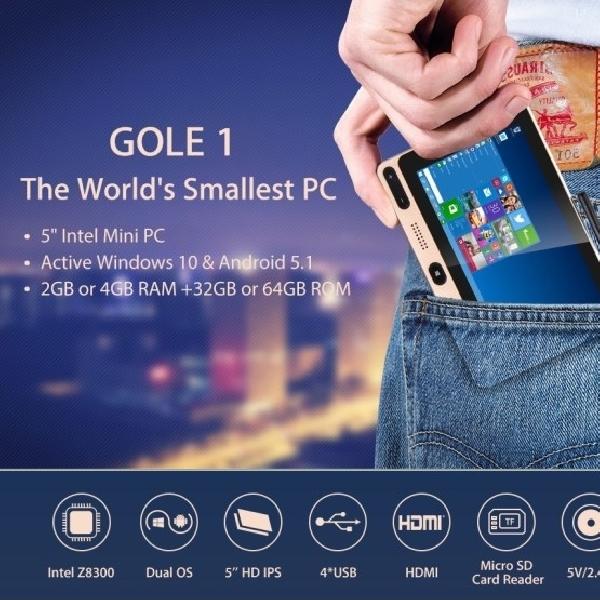 Perkenalkan GOLE1, PC Mini Terkecil Di Dunia