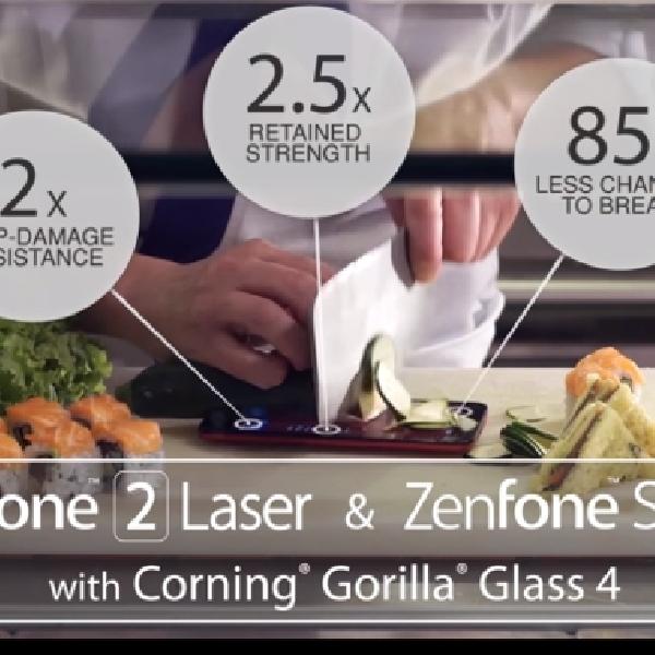 Gunakan Gorilla Glass 4, Zenfone Selfie Tahan Tebasan Pisau