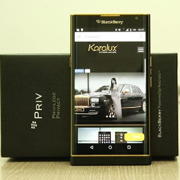Karalux Memperkenalkan Blackberry Priv Yang Dilapisi Emas 24K
