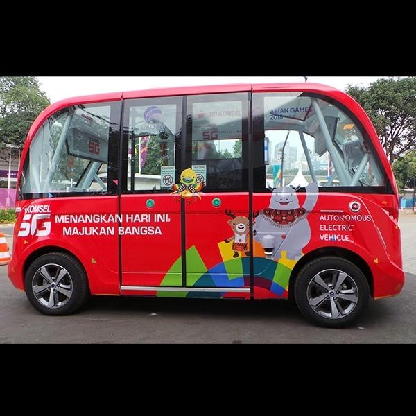 Begini Cara Menjajal Mobil Listrik Otonom di Asian Games 2018