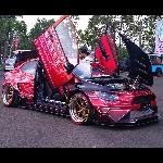 Honda Civic Galaxy Auto Concept Bandung Tampil Ekstrim di BlackAuto Battle Purwokerto