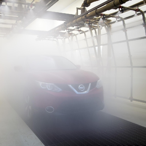 Beginilah cara Nissan menguji kebocoran kabin