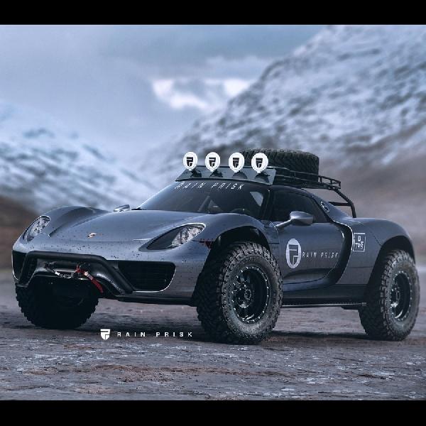 Renderan Porsche 918 Spyder Menjadi Crossover Rock Crawling