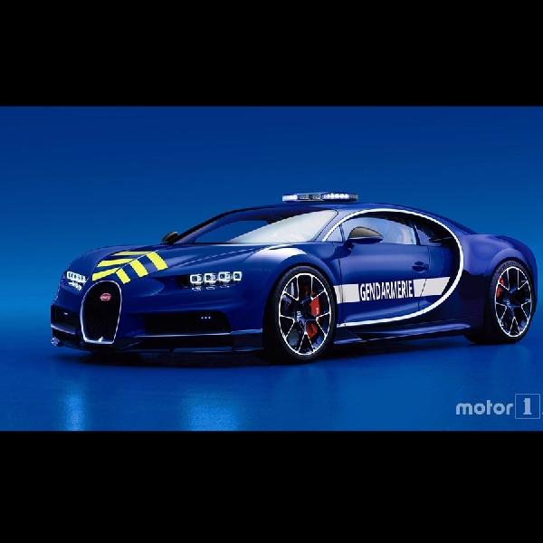Kepolisian Perancis Gunakan Bugatti Chiron untuk Berpatroli