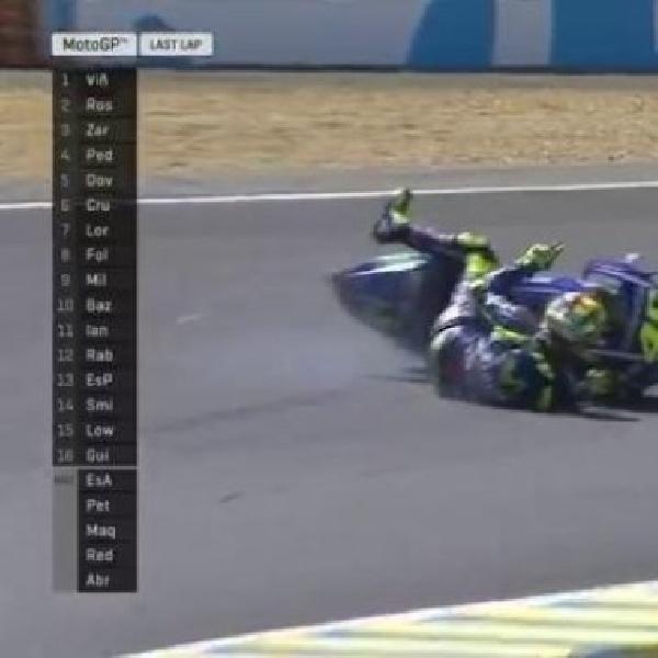 MotoGP: Kronologis Jatuhnya Rossi di Perancis