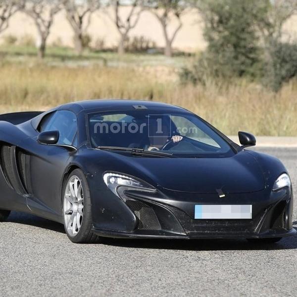 McLaren 675LT Spider Beratap Terbuka akhirnya Kepergok Kamera