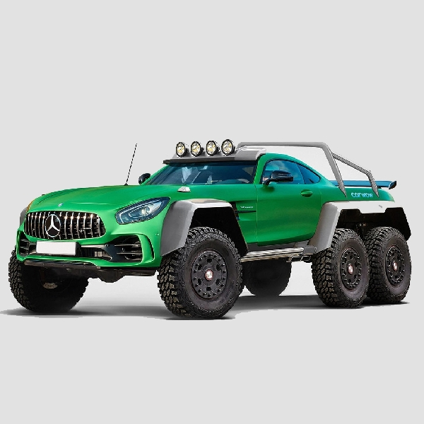 Modifikasi Digital AMG GT R 6x6