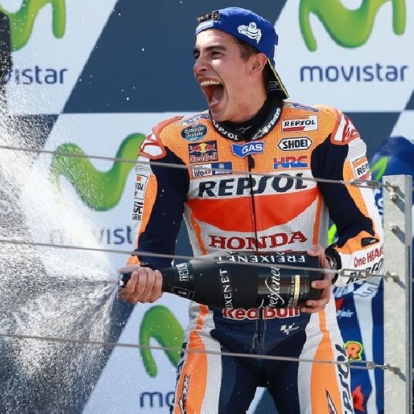 MotoGP: Marquez Sukses Hentikan Laju Rossi