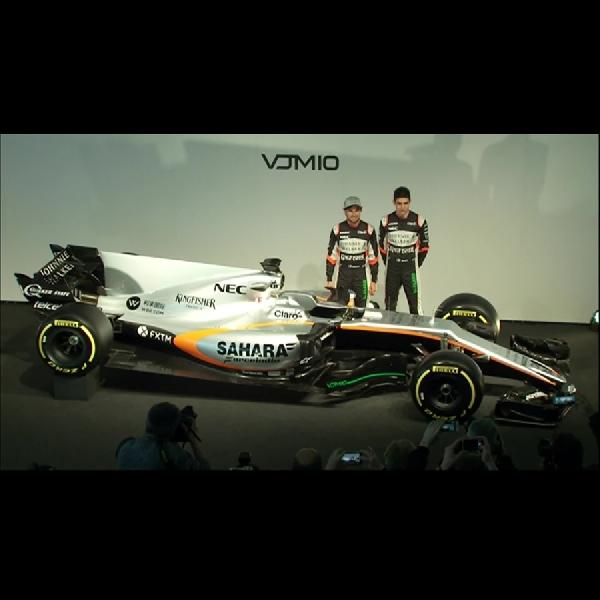 F1: Force India Luncurkan Mobil Formula 1 Terbarunya 'VJM10'