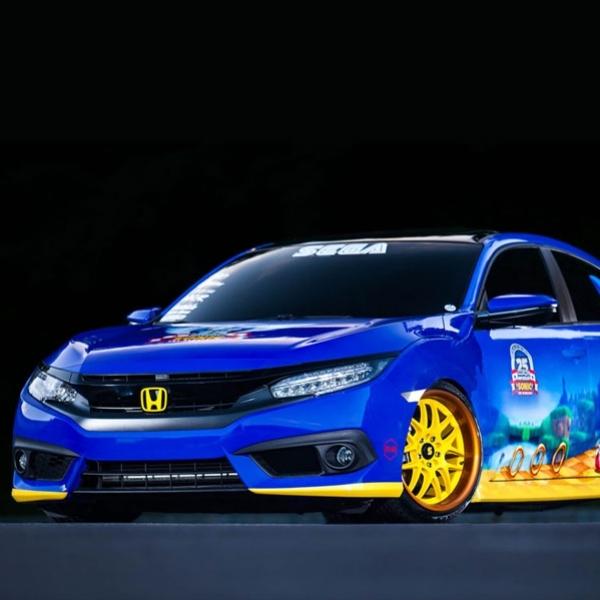 Rayakan Anniversary 25 Tahun, SEGA Modifikasi Honda Civic Bergaya Sonic