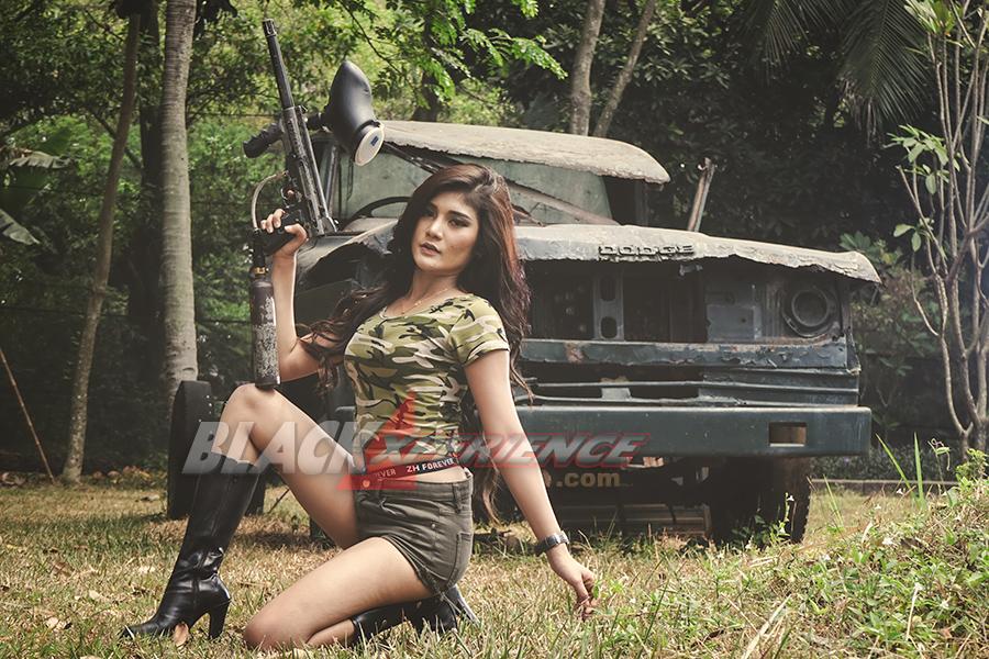 Cici Nugrama Sexy Soldier Blackxperience Com