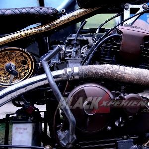 Modifikasi Yamaha Scorpio: Old School Chopper