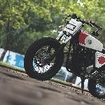 Modifikasi Yamaha Scorpio Scrambler Merah Putih