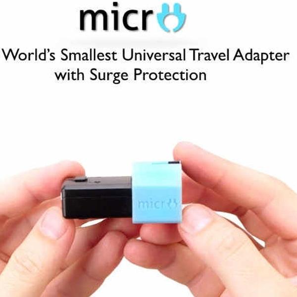 Micro Universal Travel Adapter, Ringkas, Modular dengan Surge Protection