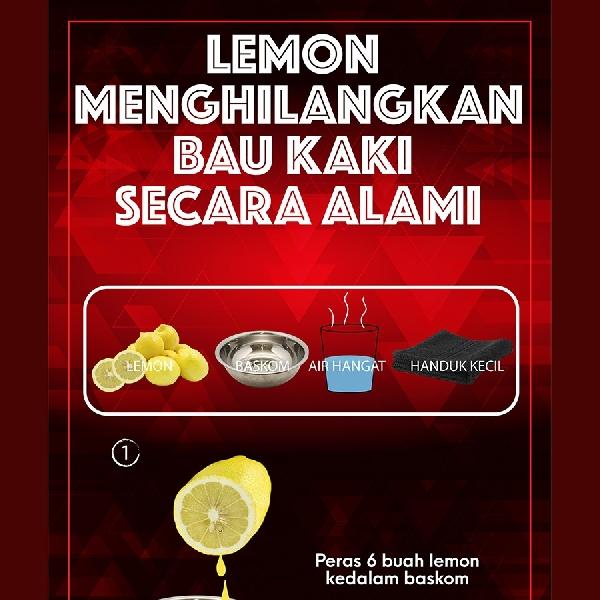 Lemon Menghilangkan Bau Kaki