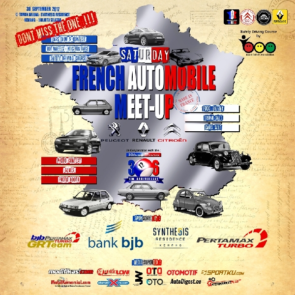 Pecinta 3 Merek Perancis akan Kumpul di Saturday French Automobile Meet-Up 2017