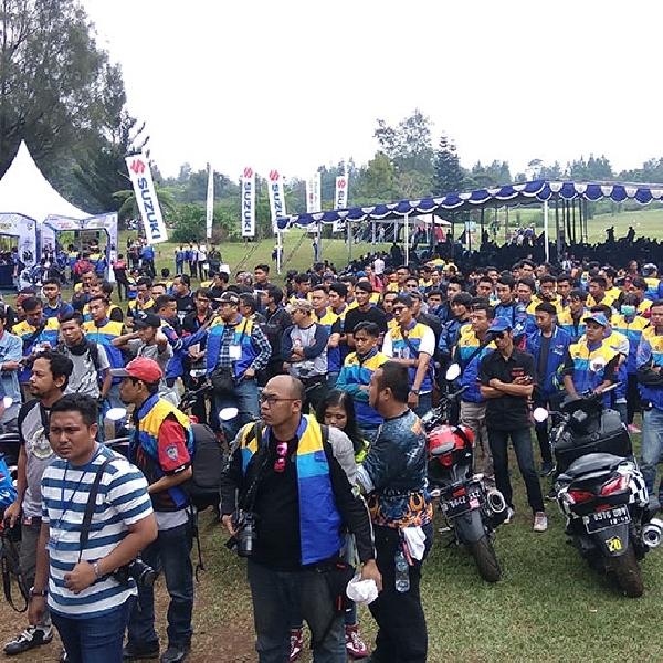 Suzuki Bike Meet 2017: Ratusan Pecinta Motor Suzuki Kumpul di Cibodas Puncak