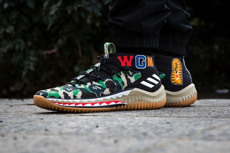 promo code 099ae 3813d Lebih Dekat dengan Sneakers BAPE x adidas Dame 4 ampldquoGreen ...