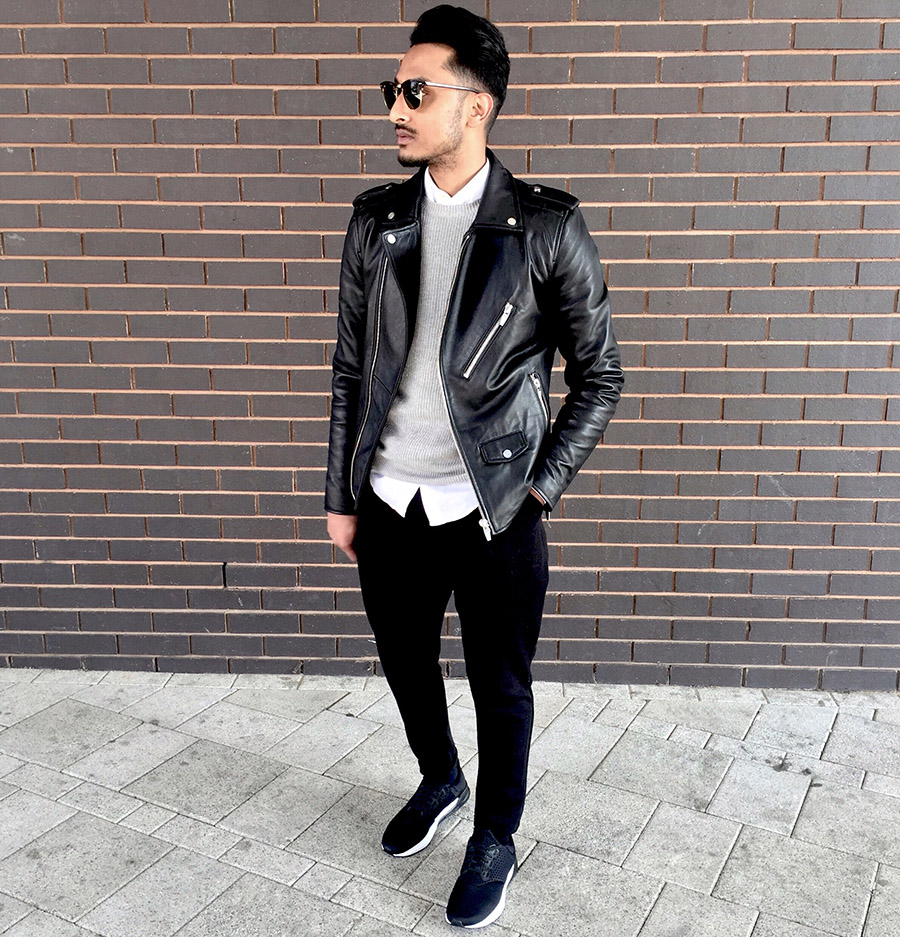 Tips Tampil Stylish Dengan Jaket Kulit Black Bikers Style