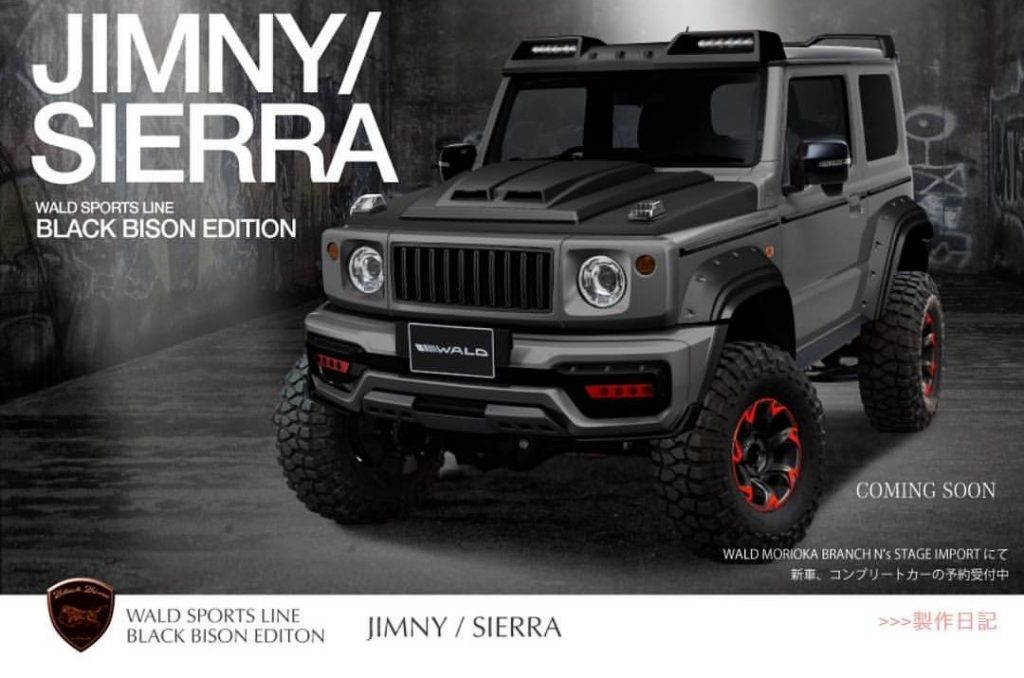 Wald Jimny Black Bison Modifikasi Suzuki Jimny Dengan Gaya