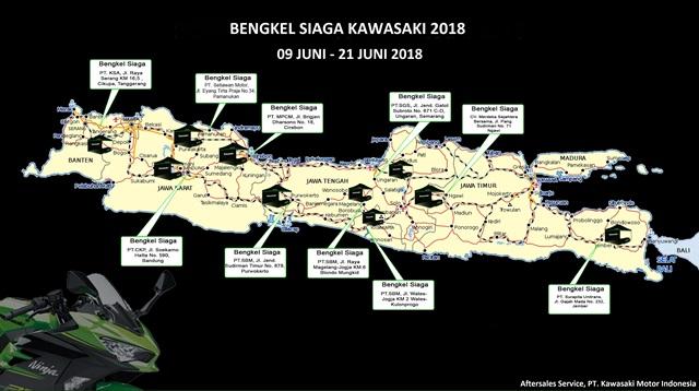 Catat, Ini Daftar Lokasi Bengkel Siaga Kawasaki