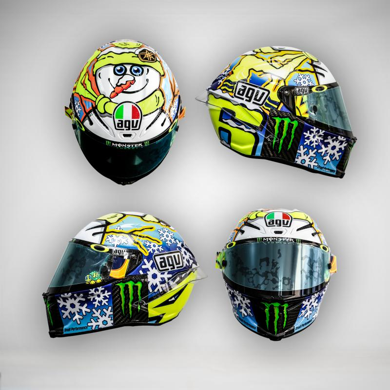 motogp rossi gunakan desain helm baru di sepang. Black Bedroom Furniture Sets. Home Design Ideas