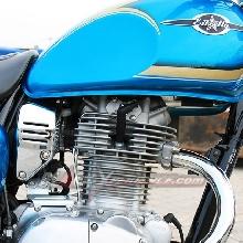 250cc, 4 stroke, SOHC 2 valve, single cylinder.