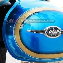 Tangki lonjong Kawasaki Estrella dengan Emblems