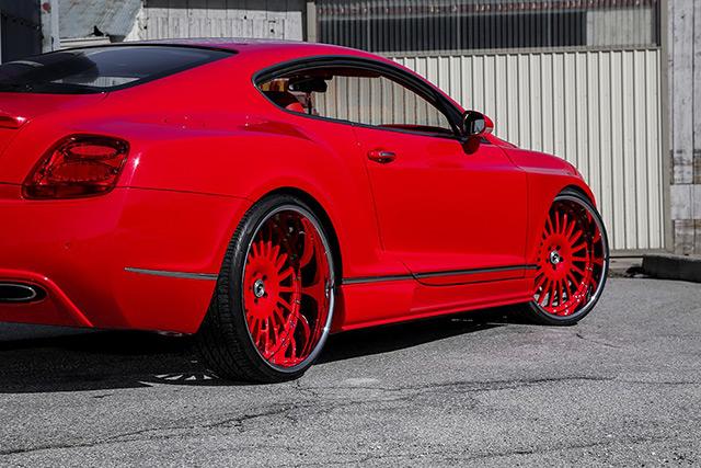 Modifikasi Bentley Continental Gt Gincu Merah Dengan Velg Forgatio