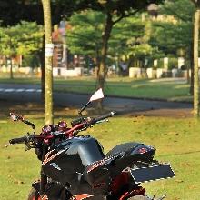 Modifikasi Honda Tiger menjadi bergaya moge